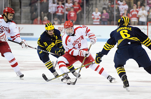 Since hitting the ice as a member of the Boston University Terriers, freshman Jack Eichel has lived up to the hype by lifting the powerhouse program back to the top of the USA Today/USA Hockey Magazine College Poll.