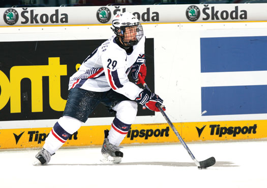 Jordan Schroeder turned heads with his play at the 2008 IIHF World Junior Championship.
