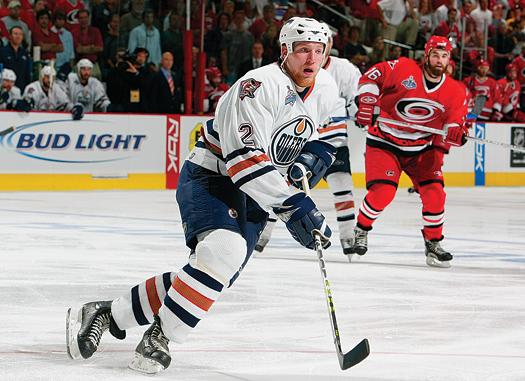Big and bruising defenseman Matt Greene is making a name for himself  in the hockey-mad city of Edmonton, Alberta.