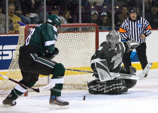 Jeff Lerg, Michigan State -  After playing two years in the USHL with the Omaha Lancers, the Livonia, Mich., native backstopped the Spartans to a national championship as a sophomore in 2007.