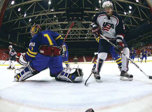 Patrick Kane was among the leading scorers for the U.S. National Junior Team at the 2007 IIHF World Junior Championship where Team USA won the bronze medal.