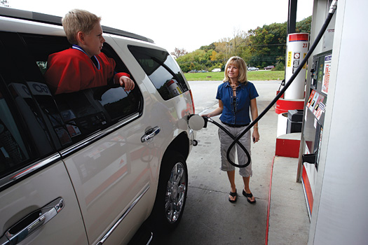 Raising fuel prices were a cause for concern among hockey families prior to the start of the season. While prices have actually declined in recent weeks, hockey families are still working together by carpooling and finding other ways.