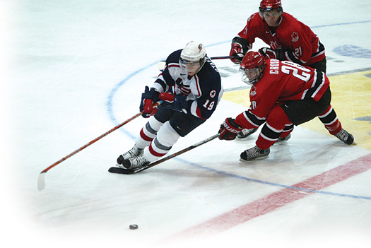 Drew Stafford's dynamic play was a key part of Team USA's success at the 2004 World Junior Championship.