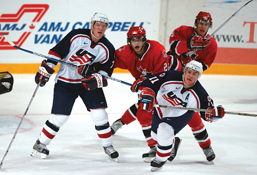 Ryan Suter, left, and Zach Parise are just two of 13 members of the 2004 U.S. National Junior Team that are currently starring for NHL teams.