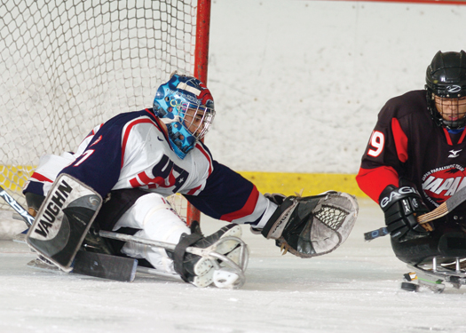 Steve Cash backstopped the U.S. Sled Hockey Team to its first gold medal at the 2009 Sledge Hockey World Championship.