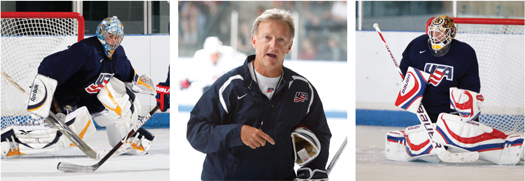 Solid goaltending from Ryan Miller and Tim Thomas will be the ace in coach Ron Wilson's hand.