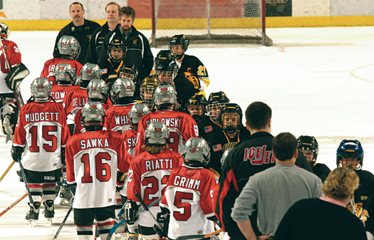 There may be no greater display of sportsmanship in all of sports than the handshake line that takes place at the end of a hockey game.