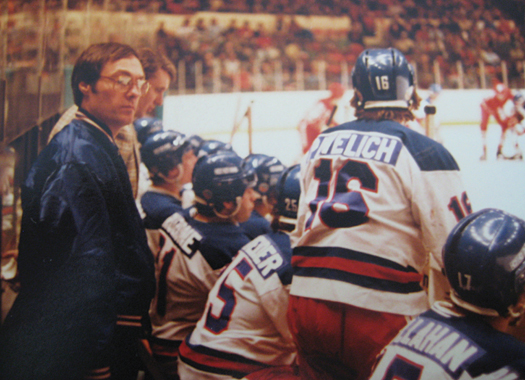 Gary Smith quietly toiled behind the scenes with the 1980 U.S. Olympic Team until his public display of emotion after Mike Eruzione's winning goal against Russia propelled him into the spotlight.