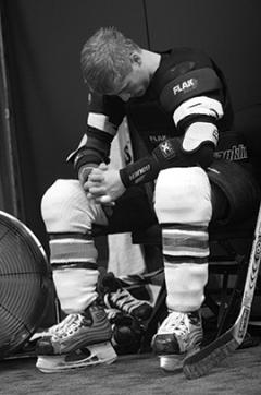 Following a pregame routine can help keep a player calm, relaxed and focused on performing at his or her best on the ice.