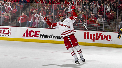 K'Andre Miller has become a force on the Badgers' blue-line.