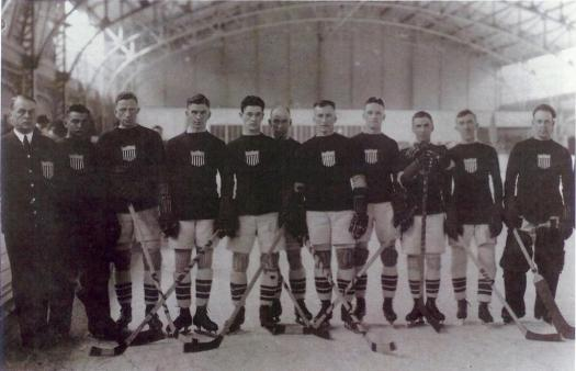 The 1920 U.S. Olympic Men's Ice Hockey Team won the silver medal in the first-ever Olympic Ice Hockey Tournament.