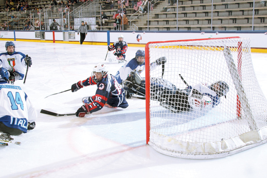 The play of terrific teens Declan Farmer (16) and Brody Roybal (4) helped pace the U.S. National Sled Team to an undefeated season.