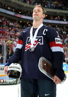 Matt Hendricks provided solid leadership on and off the ice as the captain of the U.S. squad.