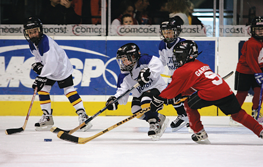 More cross-ice games and practices, and a greater emphasis on skill development and fun are the backbone of the American Development Model.