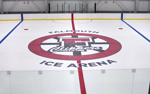 The Falmouth (Mass.) Ice Arena, which opened in 2012, is a state-of-the-art facility that features an age-appropriate playing surface where kids can play cross-ice hockey.