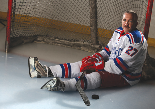 Dave Marley was not about to let a brain aneurysm scuttle his hockey dreams. Thanks to the love and support of family and friends, the 46-year-old North Carolina adult player is back in the game.
