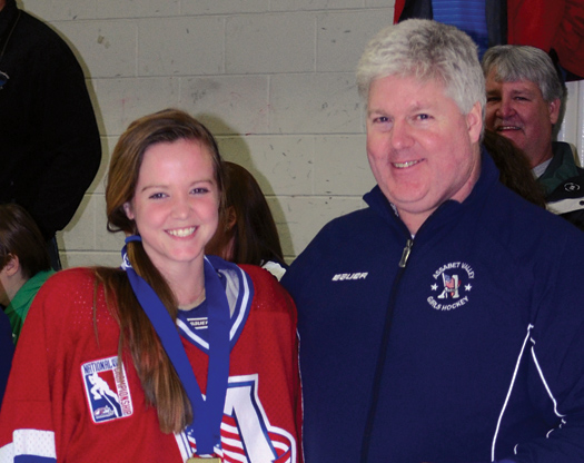 Eric Gray led the Assabet Valley Girls' 12 & Under and 14 & Under teams to titles at the 2012 USA Hockey Girls' Tier I National Championship tournament in Marlborough, Mass.
