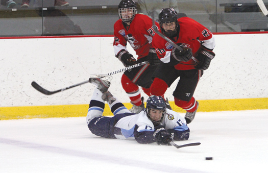 Whether at the professional level with players like Sidney Crosby, top photo, or among youth hockey players, above, the UPMC is among the leaders in studying the causes and affects of concussions.