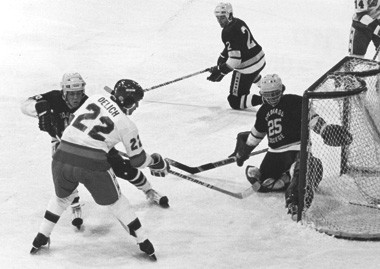 After a stellar career with the Colorado College Tigers, Dave Delich played with the core of the 1980 U.S. Olympic Team on its pre-Olympic tour. He was one of the last cuts made from the team that went on to shock the Russians.