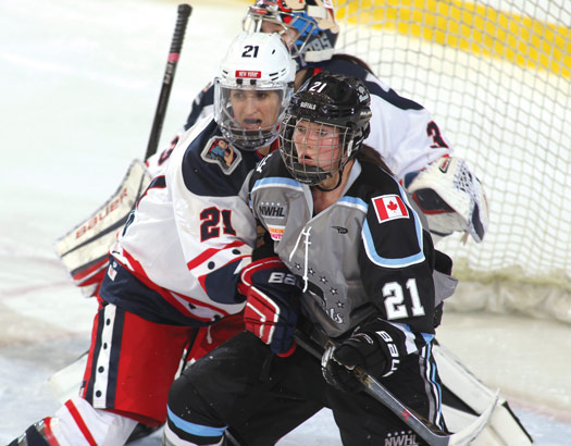 The action is fast, furious and often physical in the NWHL, something that has earned a growing legion of loyal fans.