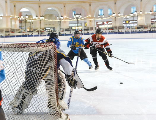 A shortage of goaltenders in Qatar creates additional opportunities for Zack Peterson to get between the pipes.