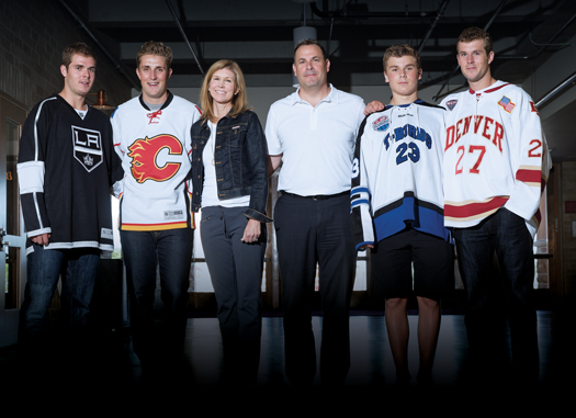Hockey runs through the bloodlines of the Shore family, from Nick, Drew, Sarah, David, Baker and Quentin.