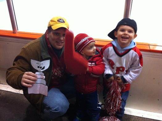 Flat Stanley Cup at the RPI - Princeton Men's Hockey Game: Photo submitted by Dave Aiello