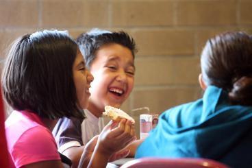 Kids enjoying a snack break