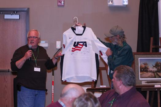 From paintings to autographed jerseys, items were auctioned off during the course of the night
