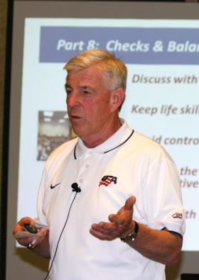 Coaches who attended the Level 4 Coaching Clinic in Livonia, Mich., were treated to a packed curriculum that featured a number of high-level speakers, such as Ron Baum, who talked about Teaching Life Skills.
