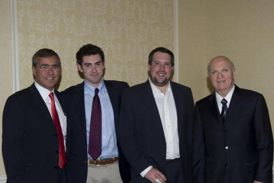 Don, Christian and David Caminiti with Lou Lamoriello, GM of the New Jersey Devils