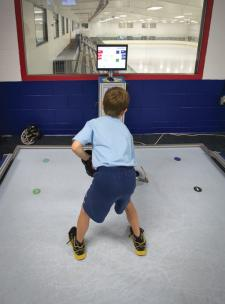 Youth hockey players have access to some hi-tech gadetry such as the Rapid Hands machine to work on their skills in a fun environment.