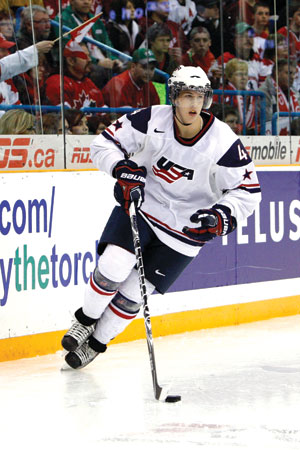 After helping the U.S. National Junior Team win a gold medal at the 2010 World Junior Championships, Matt Donovan has his sights set on an NCAA title in Denver.