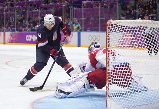 T.J. Oshie was the hero in the U.S. Team's dramatic eight-round shootout against Russia.