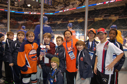 The Nassau Islanders team (from Long Island, N.Y.) includes Charles Wang's son, Cameron & Dough Weight's son, Danny.: Photo submitted by New York Islanders
