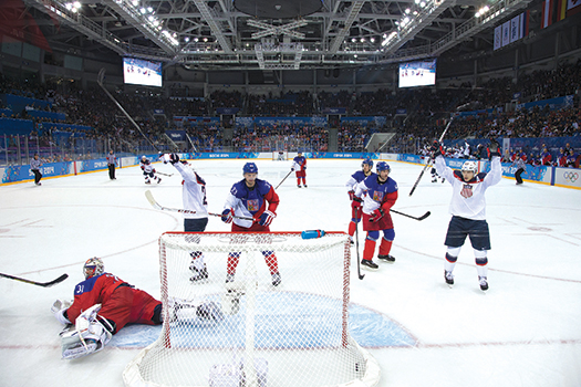 Throughout the early stages of the tournament in Sochi, the U.S. Men's Olympic Team showed flashes of brilliance, notching 20 goals in its first four games before hitting a dry spell against Canada and Finland to finish off of the medals podium.