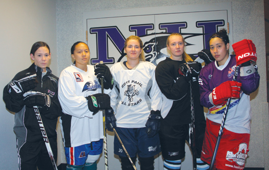 Rachel Hauser, Carleah Angeles, Paige Sasser, Natasha Fryer and Lauren Fontaine continue to represent Niagara University, although now it's as members of the university's club team.