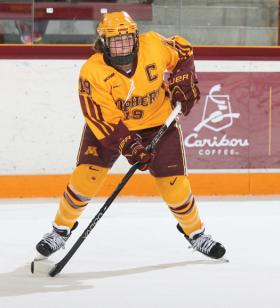 Megan Bozek captained the Gophers to an undefeated WCHA regular season.