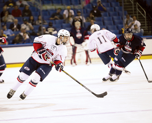 Noah Hanifin is rated among the  top defensemen eligible for the 2015 NHL Entry Draft.