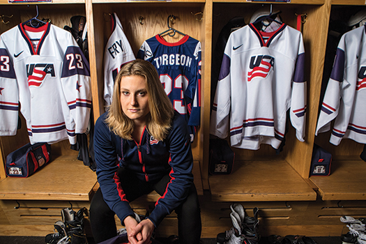 Lyndsey Fry continues to carry Elizabeth Turgeon's blue USA jersey with her every step of the way on her Olympic journey.