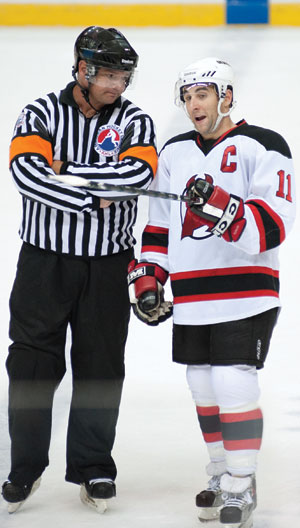 Stephen Gionta has followed his brother's lead by earning the role of captain with the Albany Devils this season.