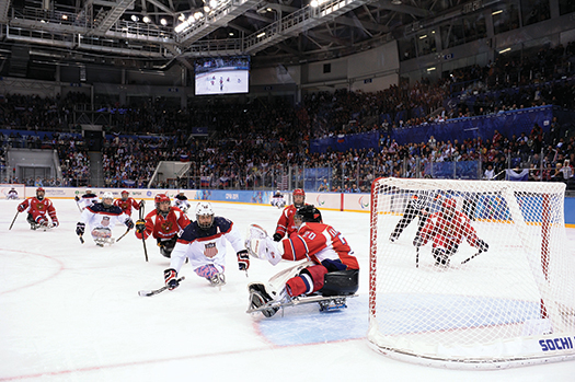 Relentless pressure on the forecheck led to the only U.S. goal against Russia as Josh Sweeney forced a turnover and then beat goaltender Vladimir Kamantcev high to the glove side.