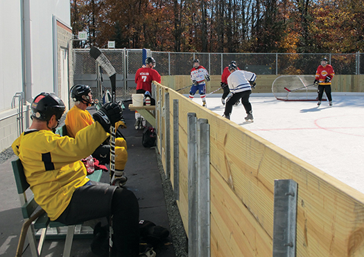 Players of all ages are discovering the thrill of playing hockey outdoors at Whitey's Pond in Laurel, Md.