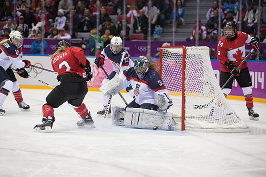 Jessie Vetter closed the door on the Canadians until the very end of the gold-medal game.