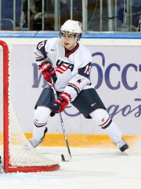 Johnny Gaudreau, above, added to his impressive championship resume with a gold medal at the World Juniors.