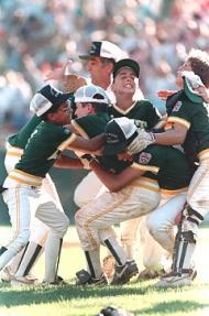 Chris Drury and the Trumbull Little League team, 1989 Little League World Series Champions