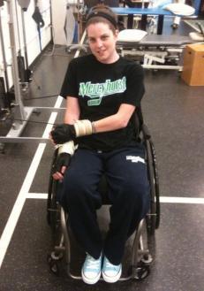 Kristen Cameron continues her rehabilitation.