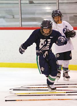 Creating practices that are creative, challenging and especially fun will help players of all ages develop their skills by working hard and still leaving the rink with smiles on their faces.