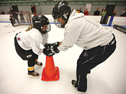 The USA Hockey block grant program helps Affiliates and local associations to create new programs that help grow the game by taking away the cost barriers that may keep kids from trying hockey.