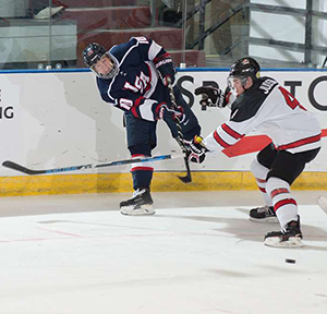 Bobby Brink, a native of Excelsior, Minn., is currently leading the USHL in points with 33.